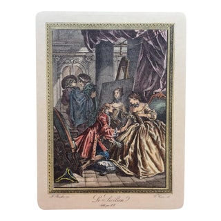 Late 18th Century Neoclassical French Fashion Engraving Print, François Boucher For Sale