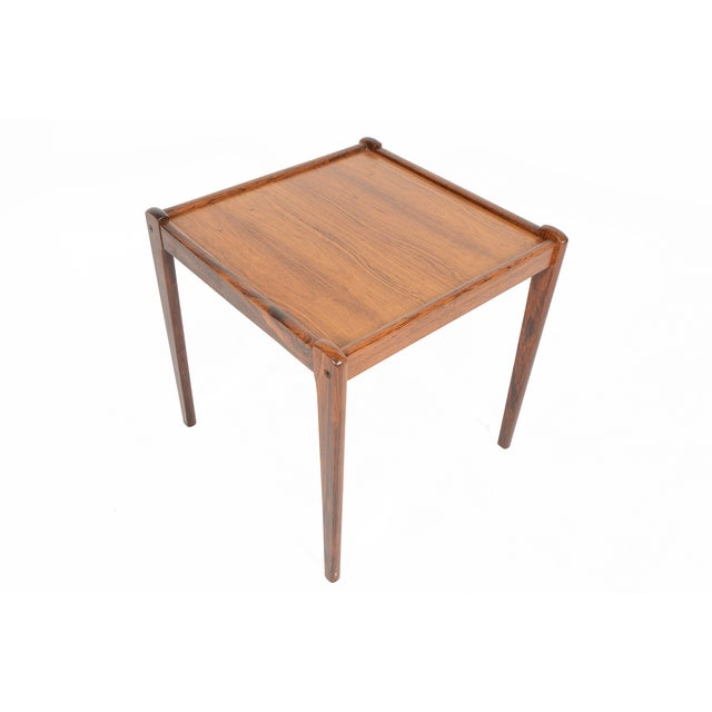 Danish Modern Rosewood Side Tables - A Pair - Image 4 of 6