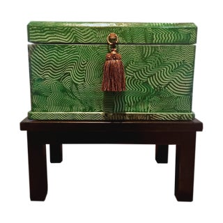 Faux Malachite Box