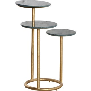 Mid-Century Modern Marble Trio Accent Table II For Sale