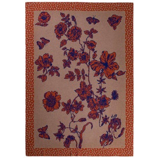 Je Suis Ta Fleur Pumpkin Cashmere Blanket, Queen For Sale