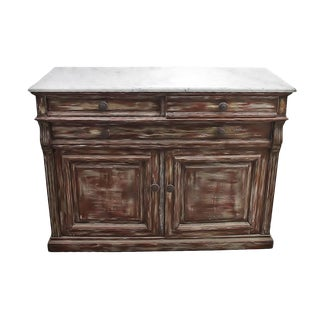 Mission Avenue Marble Topped Sideboard For Sale