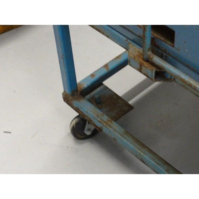 Vintage Blue Industrial Metal Cabinet - Image 2 of 11