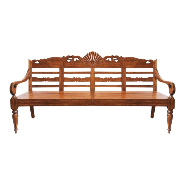 Balinese Teak Bench - Image 1 of 3