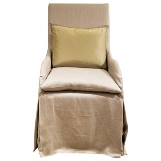 John Saladino High Back Villa Chair For Sale