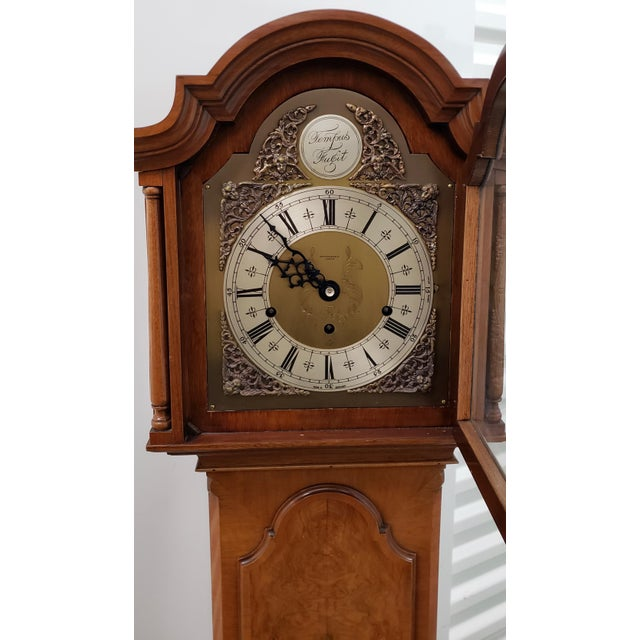 Vintage Tall Case Clock by Elliott, England Lovely clock by one of the best clock makers in England. Housed in a walnut...