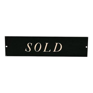 Old Store Stock Vintage Metal Sold Sign For Sale