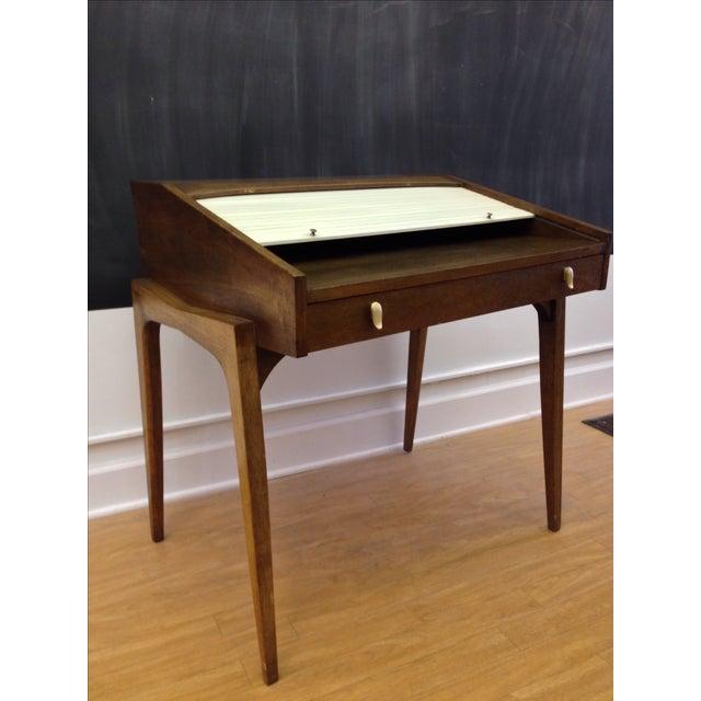 Drexel John Van Koert Roll Top Desk & Chair - Image 3 of 9