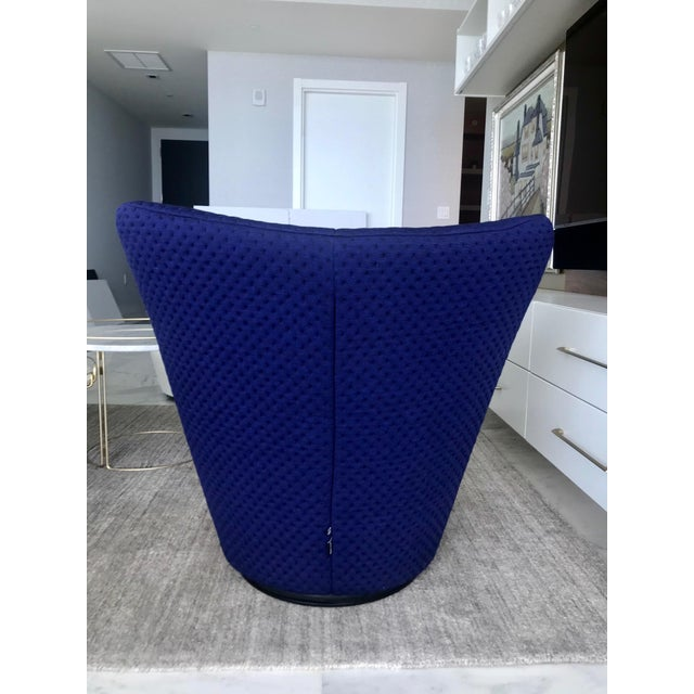 Wood Anda Swivel Armchair and Ottoman by Pierre Paulin for Ligne Roset, C. 2018 For Sale - Image 7 of 13