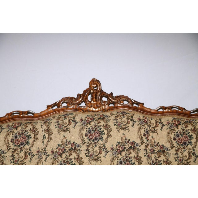 Victorian Style Decorative Floral Upholstered Parlor Sofa - Image 2 of 3