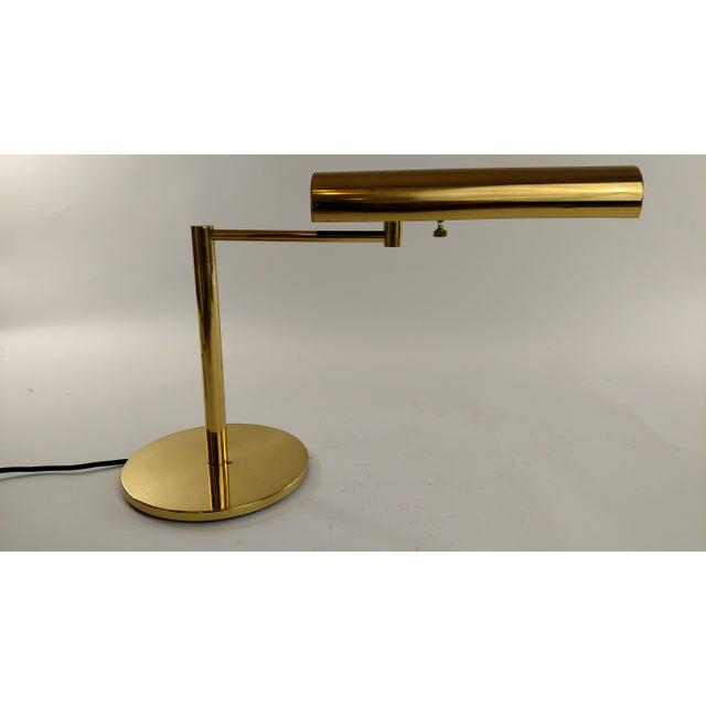 Vintage Restored Brass Desk Lamp - Image 5 of 7