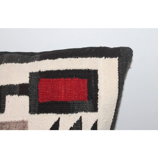 Large Geometric Navajo Indian Weaving Pillow For Sale - Image 4 of 5