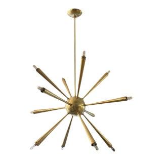 Early Brass Sputnik Chandelier For Sale