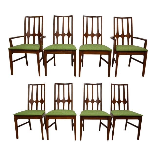 Broyhill Brasilia Walnut Dining Chairs - Set of 8 - Image 1 of 11