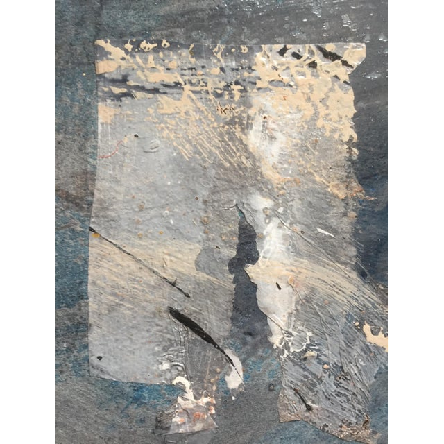 Acrylic Silver Paradigm 1980s Mixed Media Abstract For Sale - Image 7 of 10