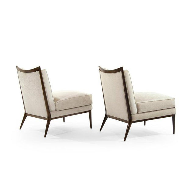 Wanut Frame Slipper Chairs by Paul McCobb for Directional - a Pair For Sale In New York - Image 6 of 12