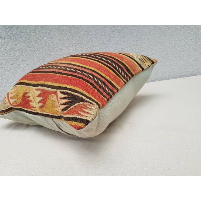 Vintage Turkish Kilim Pillow For Sale In Dallas - Image 6 of 9