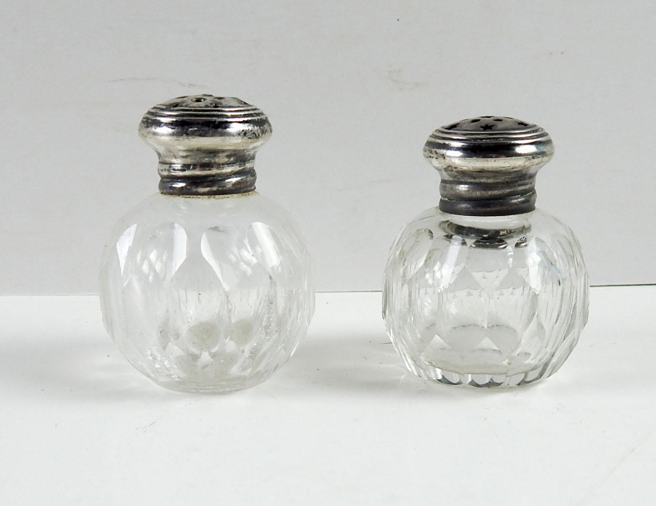 Antique Crystal Sterling Salt Pepper Shakers A Pair Chairish
