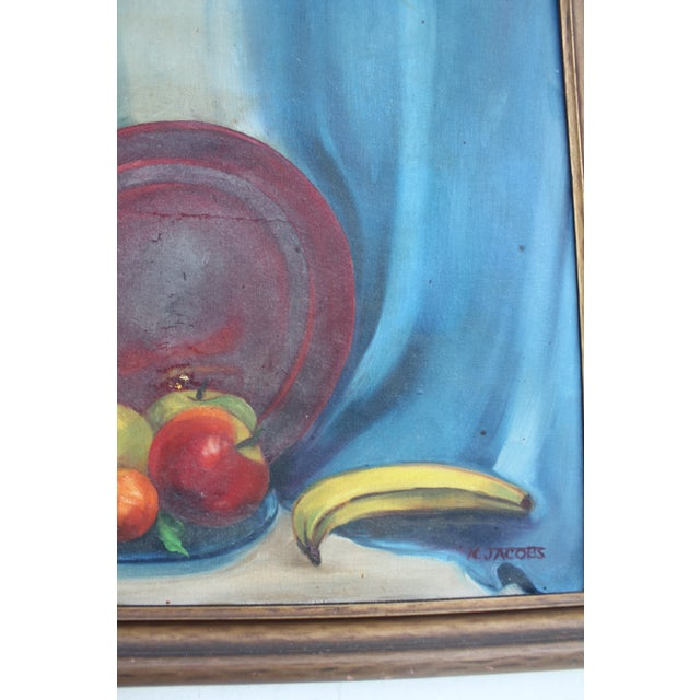 Oil Paint N. Jacobs Still Life Oil Painting For Sale - Image 7 of 11