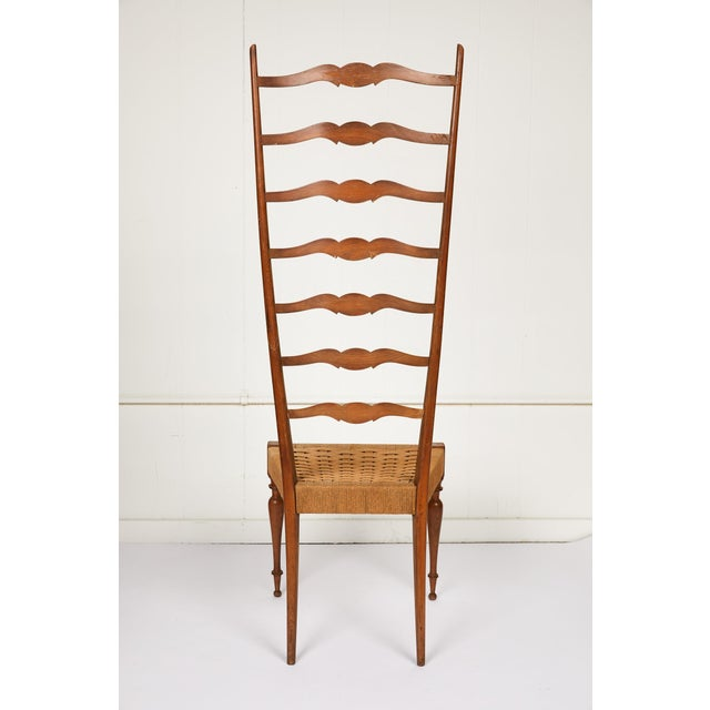 Chiavari Italian Tall Ladderback Chiavari Chair For Sale - Image 4 of 12