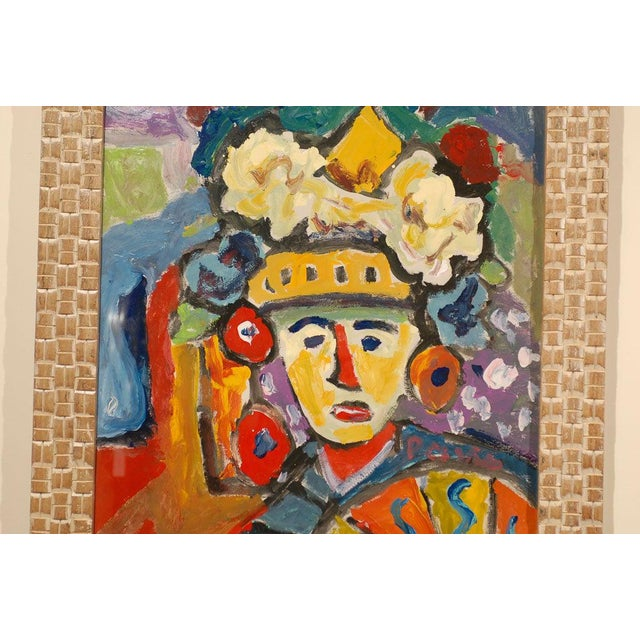 Mid 20th Century Fauvist Oil on Board Abstract Painting by Hungarian Artist Miklos Nemeth For Sale - Image 5 of 8