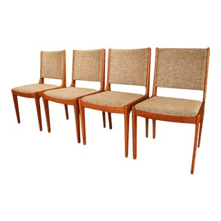 Mid Century Scandinavia Woodworks Co. Teak Dining Chairs For Sale