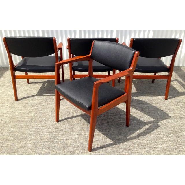 Danish Modern Mid Century Armchairs - Set of 4 - Image 4 of 4