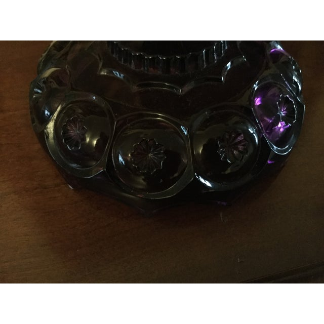 Vintage Amethyst Lidded Candy Dish - Image 5 of 8