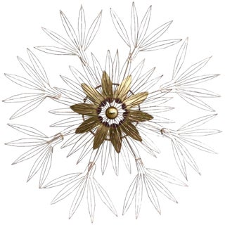Curtis Jere Signed 1980 Star Blossom Wall Sculpture For Sale