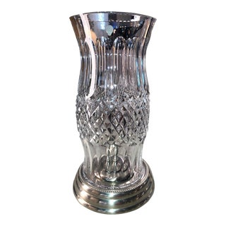 Traditional Waterford Crystal Colleen Hurricane Lamp For Sale