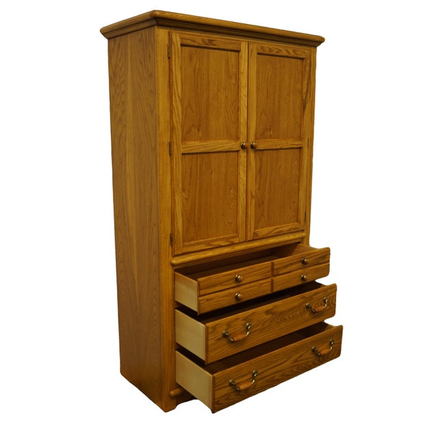 """Wood Thomasville Furniture American Country Collection 40"""" Armoire/Door Chest For Sale - Image 7 of 13"""