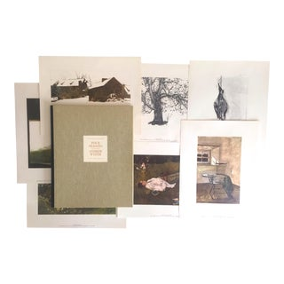 """Andrew Wyeth """"Four Seasons"""" 1962 1st Edtn Original Lithograph Prints - Set of 12 For Sale"""