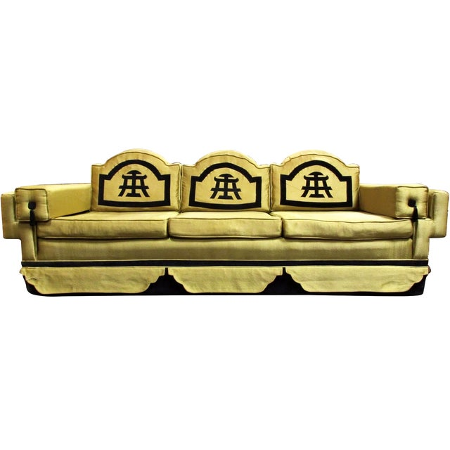1950s Chinoiserie-Style Sofa - Image 1 of 6