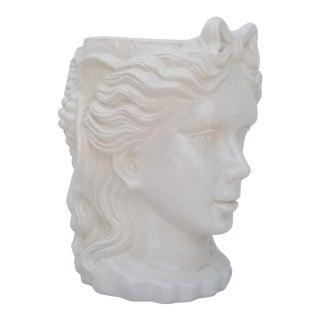 1990s Sculptural Double Face Ceramic Planter For Sale