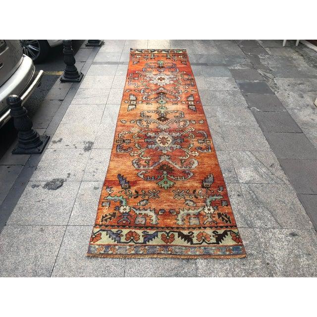 Turkish Handmade Hallway Runner Rug For Sale - Image 10 of 10