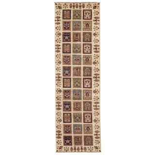 "Persian Tabriz Farahan Design Hand-Knotted Rug - 2'10"" X 9'6"" For Sale"
