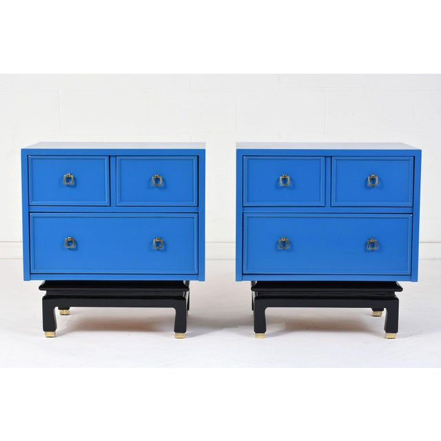 Pair of Mid-Century Modern-Style Chest of Drawers by American of Martinsville For Sale - Image 11 of 11