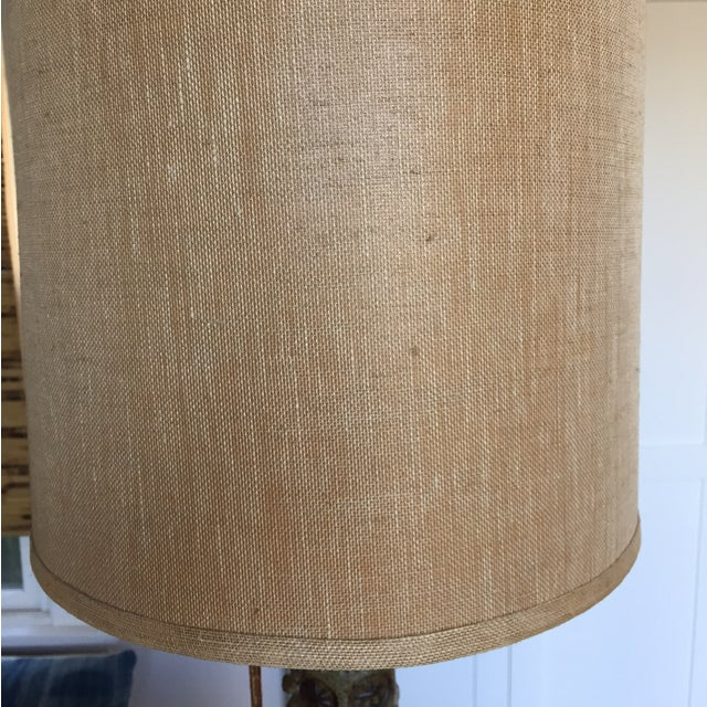 Vintage Mid Century Modern Handmade Clay Lamp For Sale - Image 4 of 10