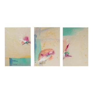 Abstract Painting Set, Falling Into Place by Rebecca Stern - 3 Pieces For Sale