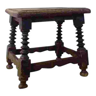 17th Century American or French Stool For Sale