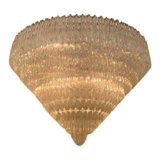 Contemporary Murano Glass Venini Style Chandelier