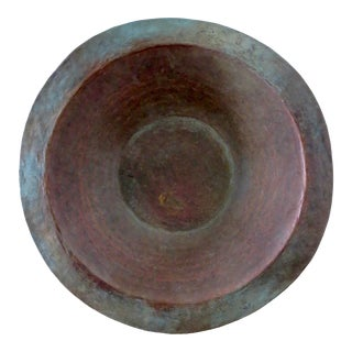 Large English Copper Bowl For Sale