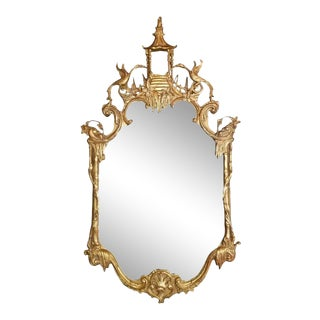 Chinese Style Giltwood Mirror, 20th Century For Sale