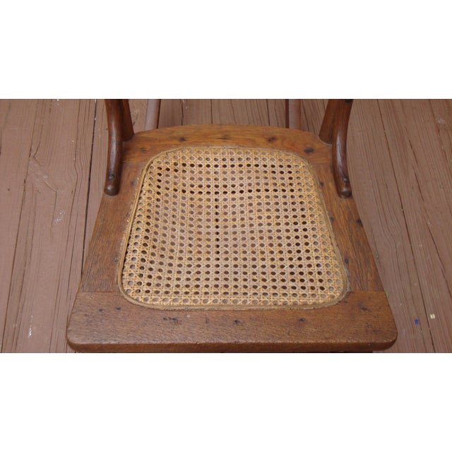 Antique 18th C. Early American Ladderback Rocker Chair For Sale In Atlanta - Image 6 of 11