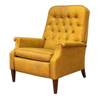Gold Tweed Mid-Century Modern Stratorester Recliner Chair