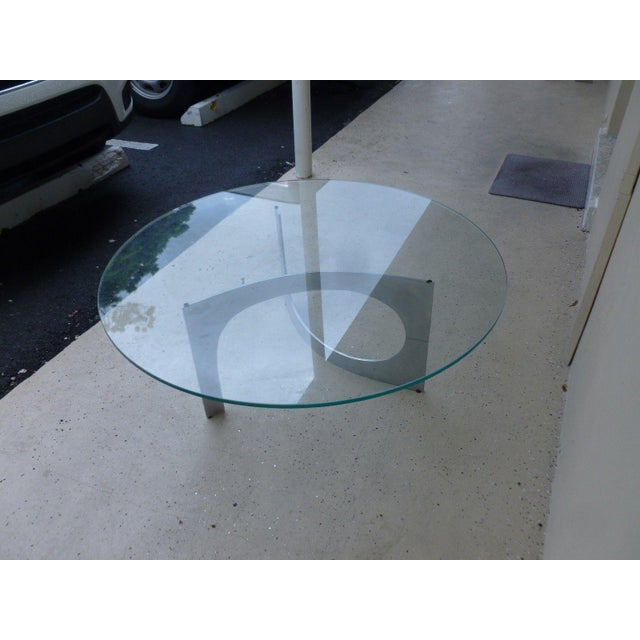 1960s Mid Century Modern Aluminum Sculptural Table by Knut Hesterberg by Bacher Tische For Sale - Image 5 of 11