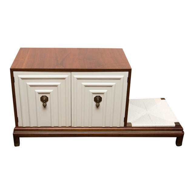 Renzo Rutili for Johnson Furniture Mid-Century Cabinet Bench For Sale
