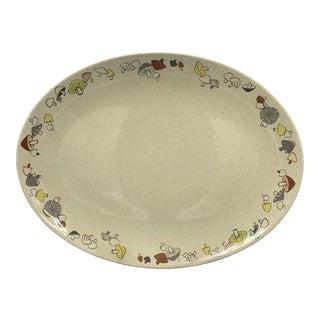 Franciscan's Color Duet Woodlore Large Oval Platter For Sale
