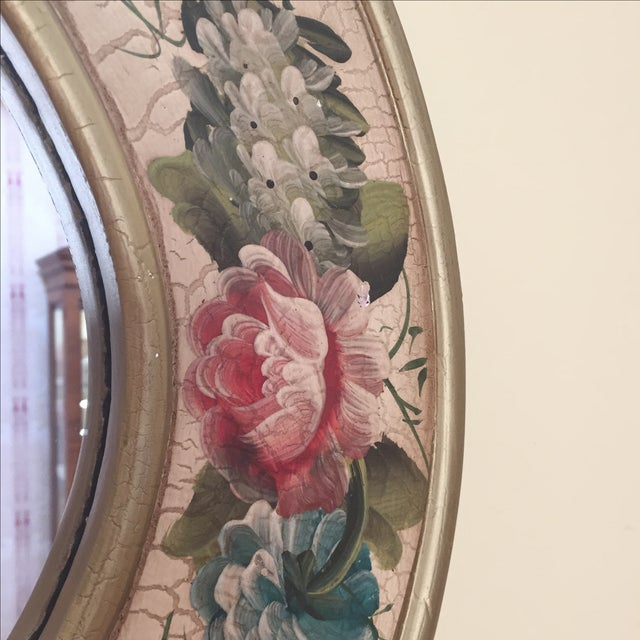 Vintage Hand-Painted Mirror - Image 5 of 6