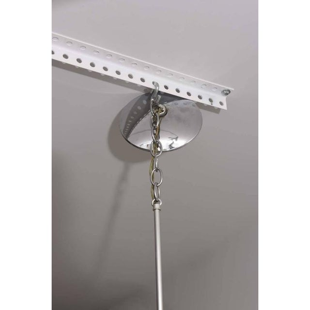 Mid-Century Modern Gaetano Sciolari Chandeliers Polished Chrome Pendant Light - a Pair For Sale In West Palm - Image 6 of 10